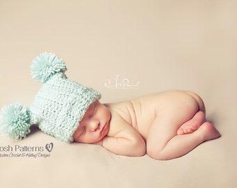 Crochet PATTERN - Crochet Hat Pattern - Easy Crochet Pattern - Crochet Patterns for Baby - Baby, Toddler, Kids, Adult Sizes - PDF 103