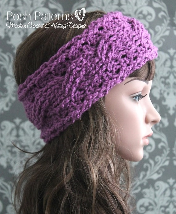Crochet Pattern Crochet Headband Pattern Crochet Ear Warmer Etsy