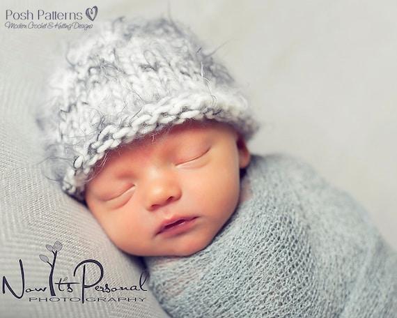 Knitting Pattern Easy Knit Baby Beanie Pattern Knit Hat Etsy