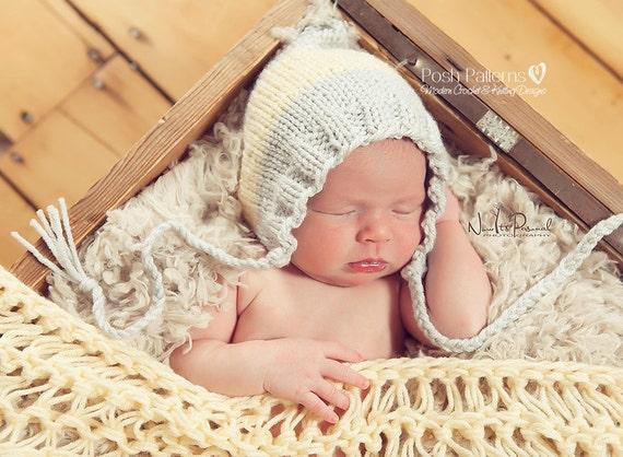 Knitting Pattern Knit Baby Hat Pattern Knitting Pattern Etsy
