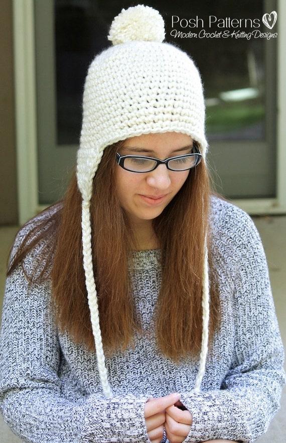 Crochet Pattern Crochet Earflap Hat Pattern Crochet Etsy