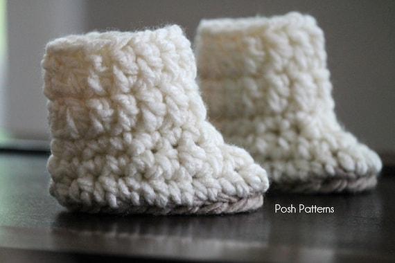 Crochet PATTERN - Crochet Baby Boots Pattern - Baby Booties Crochet ...