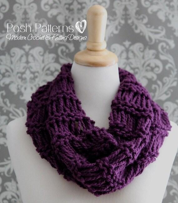 Knitting Patterns Easy Cowl Knitting Pattern Infinity Etsy