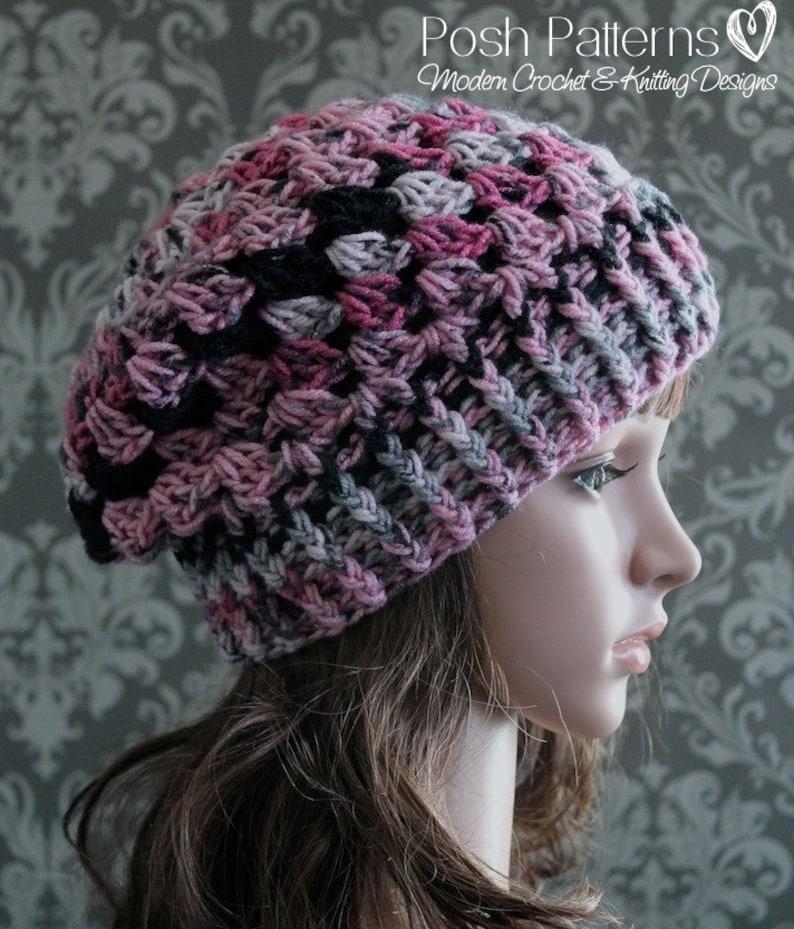3a4d90b74b1 Crochet PATTERN Slouchy Hat Pattern Crochet Hat Pattern