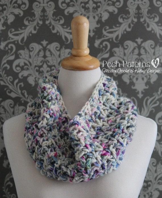 Crochet Pattern Crochet Cowl Pattern Cowl Crochet Pattern Etsy
