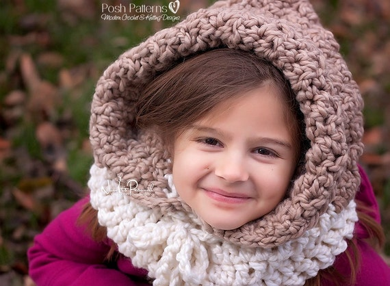 Crochet Patterns Hooded Cowl Pattern Hooded Cowl Hooded Etsy