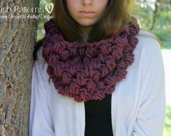 Crochet PATTERN - Crochet Cowl Pattern - Crochet Patterns - Infinity Scarf Pattern - Circle Scarf - Toddler, Child, Adult Sizes - PDF 380
