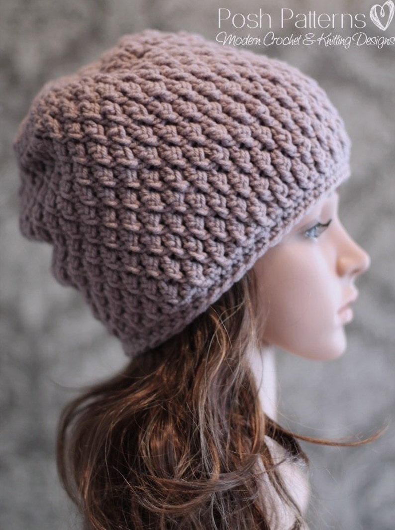d59918897f3 Crochet PATTERN Crochet Pattern Hat Crochet Slouchy Hat
