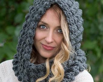 Crochet Pattern - Crochet Cowl Pattern - Crochet Hood Pattern - Crochet Hat Pattern - Crochet Cowl Pattern - Easy Crochet Pattern