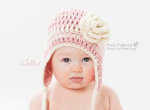 Crochet Pattern Easy Earflap Crochet Hat Pattern Crochet Etsy