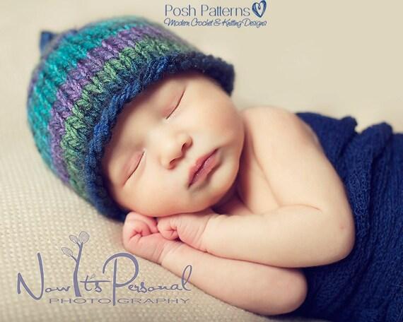 Knitting Pattern Easy Knit Hat Pattern Knit Baby Hat Etsy