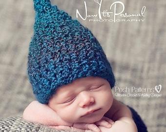 Crochet PATTERN - Elf Hat Crochet Pattern - Crochet Baby Hat Pattern - Crochet Hat - Pixie Hat - Baby, Toddler, Kids, Adult Sizes - PDF 273