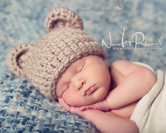 Crochet PATTERN Crochet Bear Hat Pattern Baby Bear Hat  0c9624b1f98