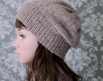 Knitting PATTERN - Slouchy Hat Knitting Pattern - Knit Slouchy Hat Pattern - Knit Hat Pattern - Includes 4 Sizes - Instant Download PDF 433