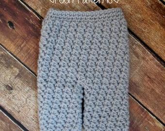 Crochet PATTERN - Crochet Baby Pants Pattern - Includes 4 Sizes Newborn to 12 Months - PDF 329 - Photo Prop Pattern
