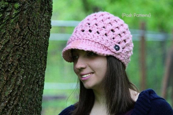 0fa304b2d32 Crochet PATTERN Crochet Newsboy Hat Pattern Crochet Hat