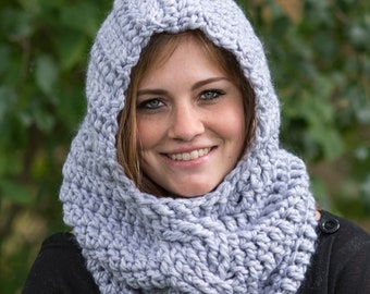 Crochet Pattern - Crochet Scarf Pattern - Crochet Hat Pattern - Crochet Hood Pattern - Crochet Cowl Pattern - Crochet Cable Pattern