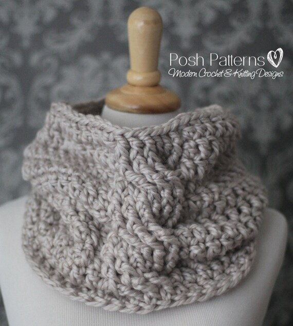 Crochet Pattern Crochet Cowl Pattern Infinity Scarf Etsy