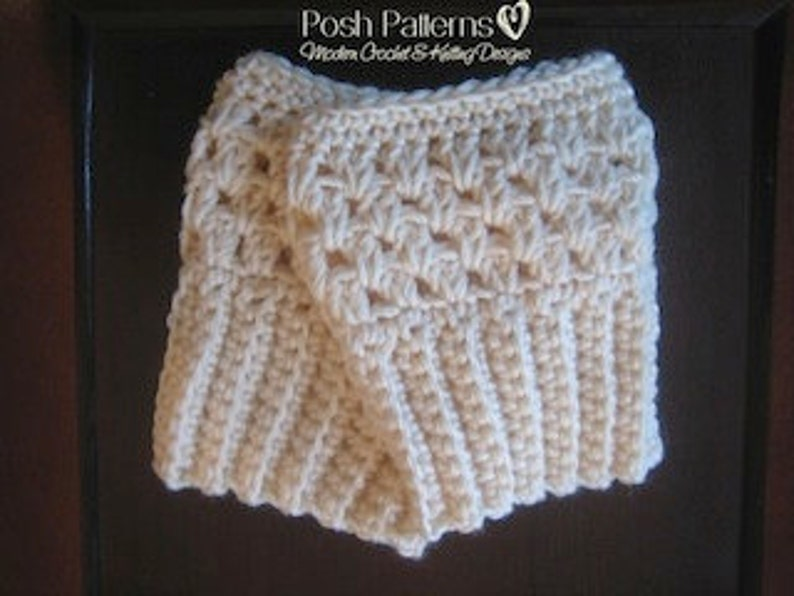 Crochet Pattern Boot Cuffs Easy Crochet Boot Cuffs Pattern Etsy