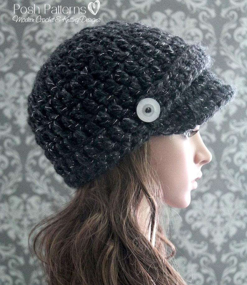 b7f09d892ee Crochet PATTERN Crochet Newsboy Hat Pattern Crochet Hat