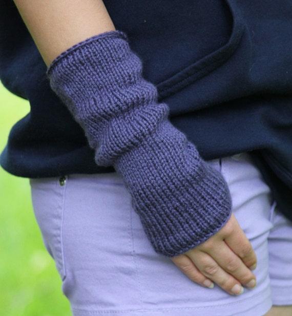 Knitting Pattern Fingerless Mittens Knitting Pattern Easy Etsy