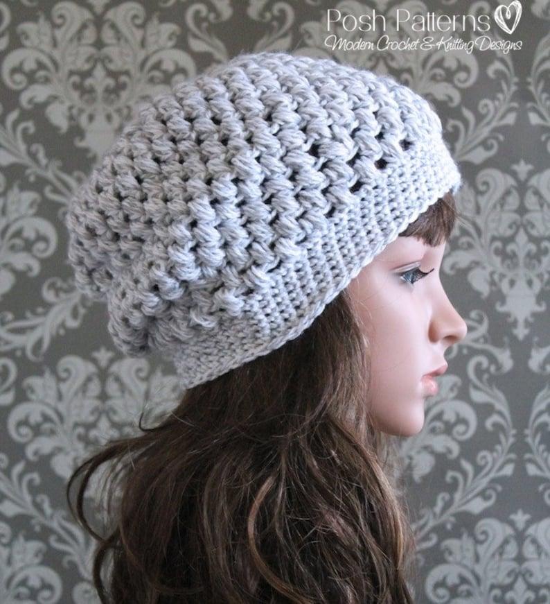 423300c84a5 Crochet PATTERN Slouchy Hat Pattern Crochet Hat Pattern