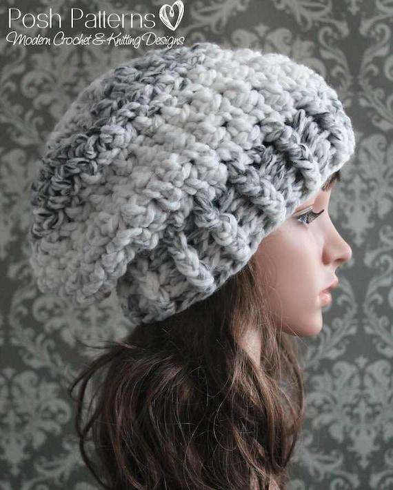 1ed0dbd8e95 Slouchy Hat Crochet Pattern Crochet Pattern Crochet Hat