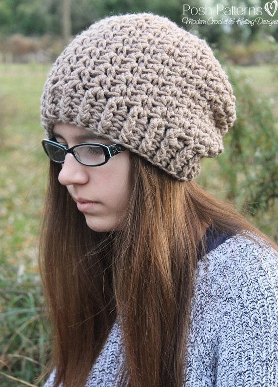 Crochet Pattern Crochet Slouchy Hat Pattern Crochet Etsy