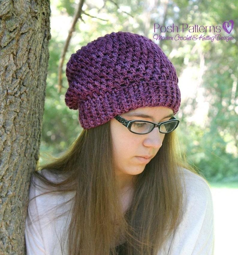 88a63fd6e3e Crochet PATTERN Crochet Slouchy Hat Pattern Baby Crochet