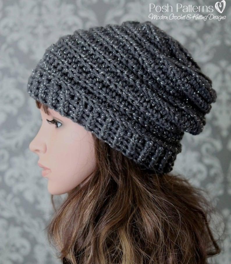 1f3e4a3f5 Crochet PATTERN - Easy Crochet Pattern - Crochet Slouchy Hat Pattern -  Ribbed Crochet Hat Pattern - Baby, Child, Adult Sizes - PDF 429