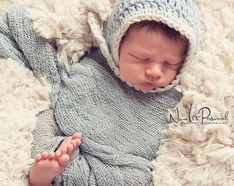 Crochet PATTERN - Baby Chin Strap Hat - Pixie Hat Crochet Pattern - PDF 272 - Newborn to Adult - Photo Prop Pattern