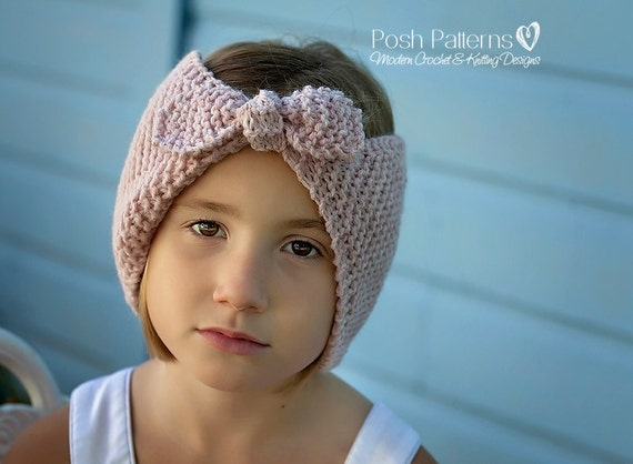 Knitting Patterns Headband Knitting Pattern Ear Warmer Etsy