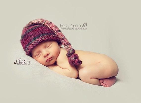 Knitting Pattern Knit Baby Hat Pattern Top Knot Knit Hat
