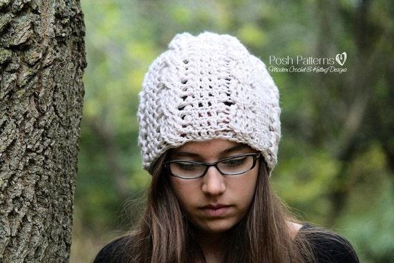 Crochet Pattern Slouchy Hat Crochet Pattern Crochet Etsy