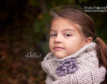 Knitting Pattern - Knit Cowl Pattern - Infinity Scarf Pattern - Knitting Patterns for Toddlers - Toddler, Child, Adult Sizes - PDF 184