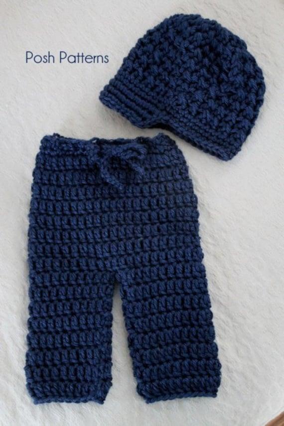 Crochet Pattern Crochet Newsboy Hat Pattern Baby Pant Etsy