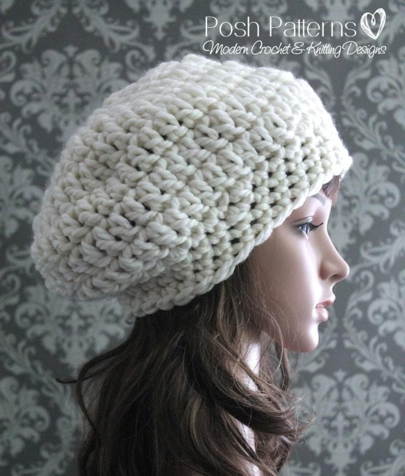 a72a1822862 Crochet PATTERN Crochet Slouchy Hat Pattern Crochet