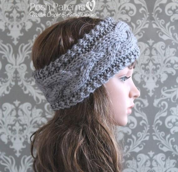 Knitting Pattern Cable Knit Headband Pattern Knitting Etsy