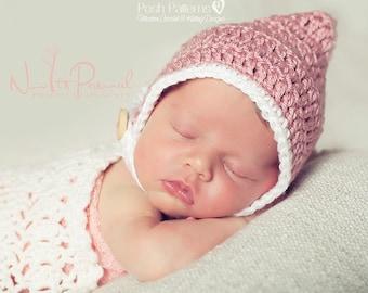 Crochet PATTERN - Pixie Hat Pattern - Crochet Tutorial - Pixie Bonnet Pattern - Crochet Bonnet - Crochet Hat Pattern - Photo Prop - PDF 272