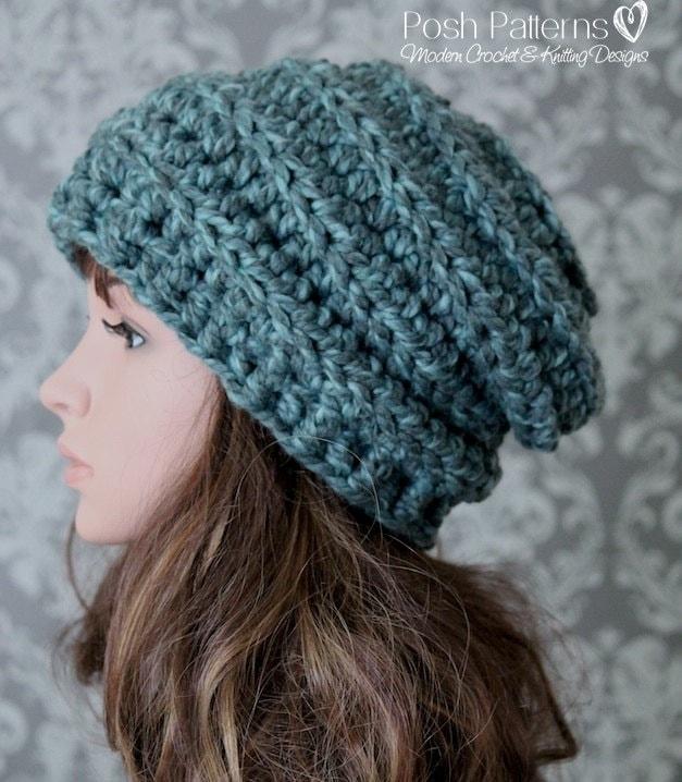 Crochet Pattern Crochet Pattern Hat Crochet Slouchy Hat Etsy