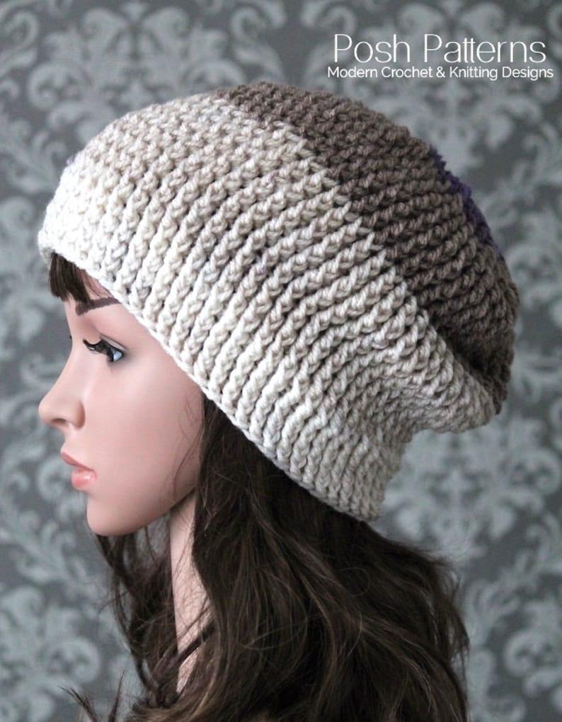 9f17e0815b5 Crochet Pattern Crochet Slouchy Hat Pattern Easy Crochet
