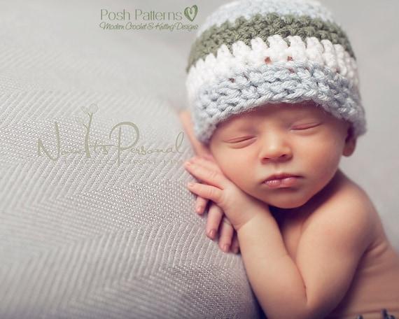 5ce6985478c Crochet PATTERN Crochet Hat Pattern Easy Crochet Beanie