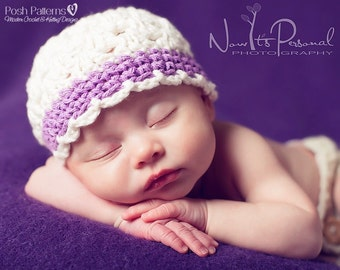 Crochet PATTERN - Crochet Hat Pattern - Crochet Patterns for Baby Hats - Baby, Toddler, Child, Kids, Adult Sizes - Photo Prop - PDF 148