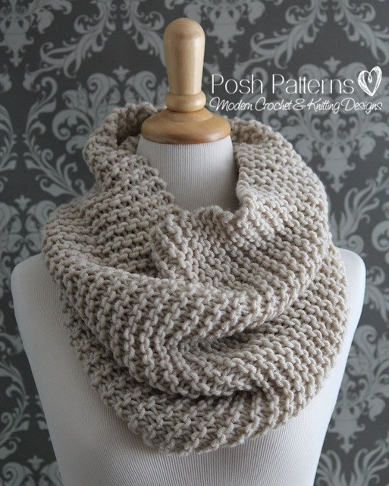 Knitting Pattern Knit Cowl Pattern Cowl Knitting Pattern Etsy