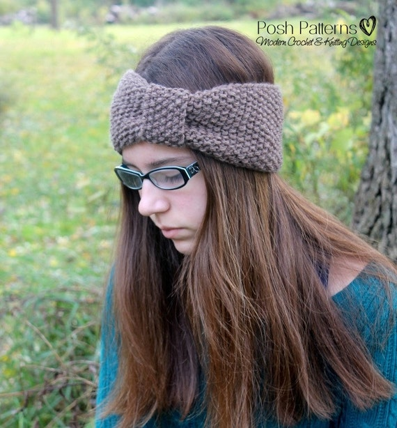Knitting Pattern Headband Knitting Patterns Knit Headband Etsy