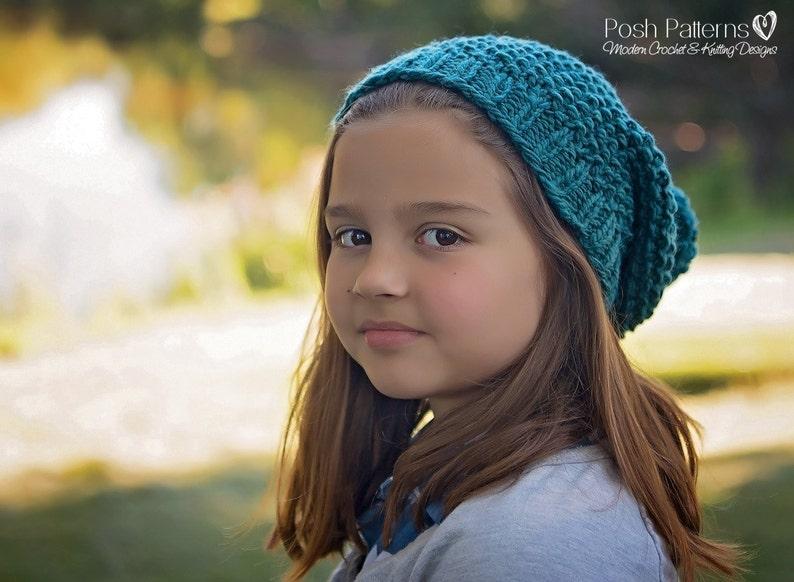 efba211cf95 Knitting Pattern Slouchy Hat Pattern Knit Hat Pattern