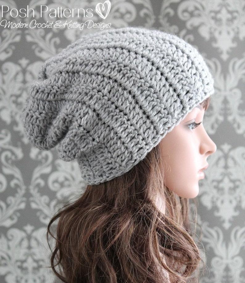 75e3d82ebb7 Crochet PATTERN Crochet Hat Pattern Slouchy Hat Crochet