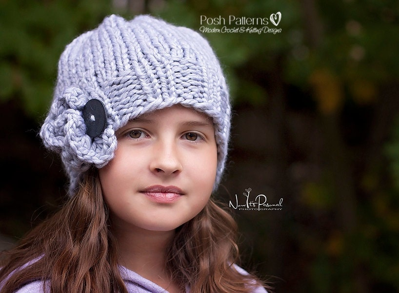 Knitting Pattern Knit Hat Pattern Knit Slouchy Hat Pattern Etsy