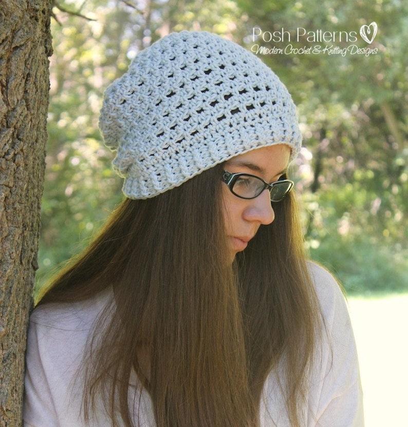 64beea68d34 Crochet hat pattern crochet pattern slouchy hat crochet