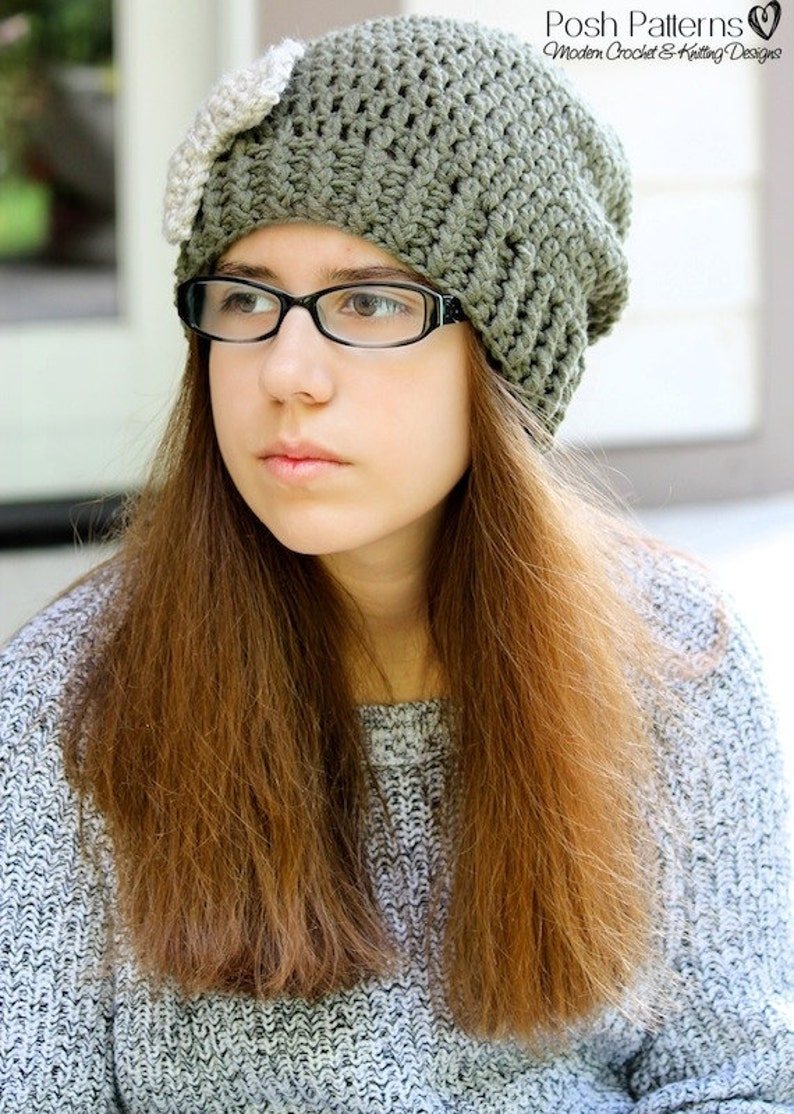 f86d2dbaf8a Crochet PATTERNS Slouchy Hat Crochet Pattern Crochet Hat